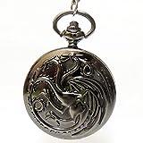 Game of Thrones casa Targaryen reloj a bolsillo bronce Got Y2