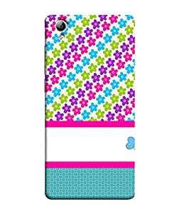 VIVo Y51, VIVoY51L Back Cover Pastel Seamless Texture With Flowers And Small Dots Design From FUSON