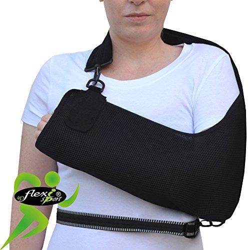 Cabestrillo brazo/hombro ajustable. SÚPER CONFORTABLE. ANTI-SUDOR, HIPOALERGÉNICA (sin neopreno/látex), respeta las píelas...
