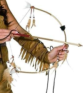 Set indien avec arc et fleche avec plumes