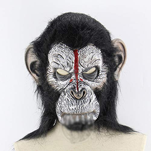 TYXHZL Halloween Mann Cub Orang-Utan Kopf Set Halloween Horror Scary Tier AFFE Maske