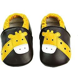 Vesi-Zapatos para bebé Primeros Pasos Zapatillas Infantiles para Niño/Niña Antideslizante Respirable Jirafa Café Talla S:0-6 Meses
