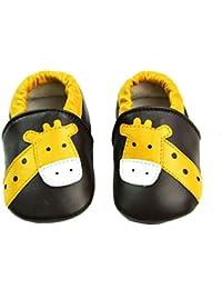 Vesi-Chaussures Bébé Cuir Souple Chaussons Premiers Pas Respirant pour Garçon Fille Nourrisson Efant