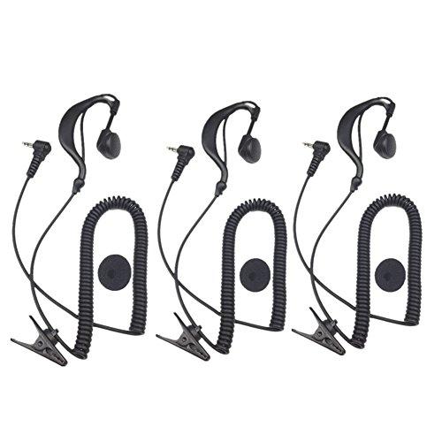 Lsgoodcare 3Pack G Form weichen Ohrbügel 2,5mm polig hören/Empfänger nur Hörmuschel Headset für 2-Wege-Motorola ICOM Schinken Kenwood Radio Transceiver (Wireless-bouncer)