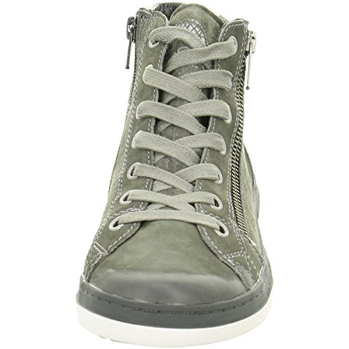 Vado sindy bottines chaussures à lacets gris charcoal tex Gris