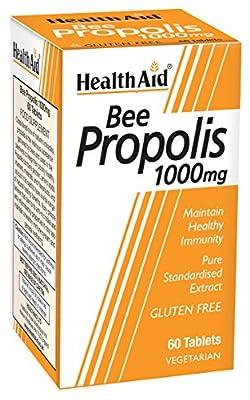 HealthAid Bee Propolis 1000mg - 60 Vegetarian Tablets from HealthAid