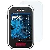 atFoliX Panzerfolie für Polar V650 Folie - 3 x FX-Shock-Clear stoßabsorbierende ultraklare Displayschutzfolie