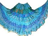 9 Yard Tribal Gypsy Maxi Tiered Rock Bauchtanz Röcke Seidenmischung Banjara für S M L (A110)