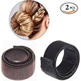 Sikenuo Hair Bun Maker Women Girls Perfect Fashion French Hair Braiding Tool DIY Hair Making Styling Twist Donut Bun Hairstyle Tool 2 color Black Chestnut