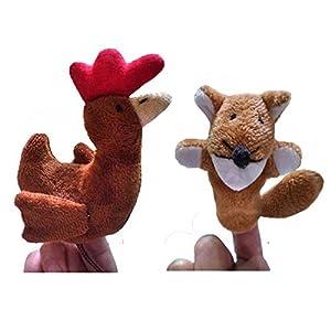 Le conte de fées marionnettes pour le Sly Fox et la petite Poule Rouge