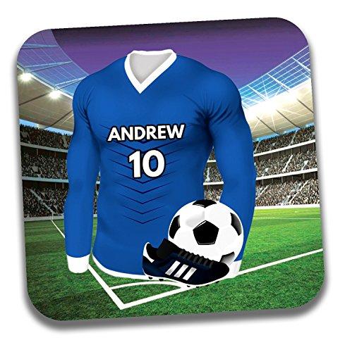 Personalisiertes Geschenk–Fußball Shirt Mottoparty Getränke Untersetzer/Bierdeckel–Geburtstagsgeschenk–Strumpffüller–St Johnstone Farben