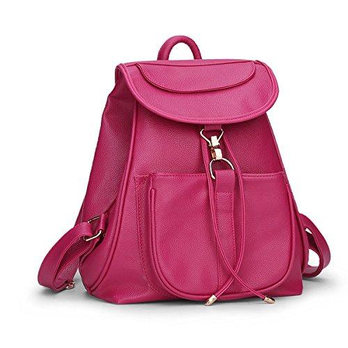 E-Girl S700 Damen 2018 Mode PU Rucksackhandtaschen,Umhängetaschen,28x33x16(BxHxT) Rose
