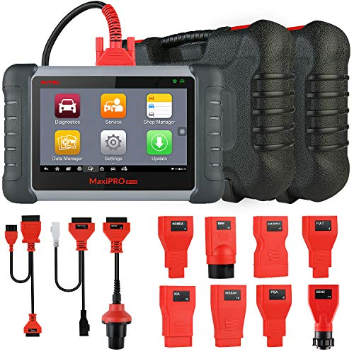 Autel MaxiPRO MP808K OBD2 Reader Car Diagnostic Scan Tool with All System  OE-Level Diagnosis, Bi-Directional Control, Key Coding, Read ECU Info,