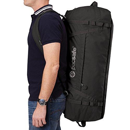 Pacsafe DuffelSafe AT45 borsa antifurto borsa da viaggio, nero (nero) - 22100 black_black, schwarz