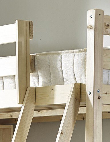 Double 4ft 6 HIGH Loft bunkbed - wooden High Sleeper - EXTRA wide base slats - Can be used by Adults