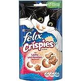 Felix Crispies Katzensnack mit Lachs- und Forellengeschmack, 8er Pack (8 x 45 g)