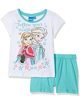 FABTASTICS Mädchen Zweiteiliger Schlafanzug Disney Die Eiskönigin Frozen