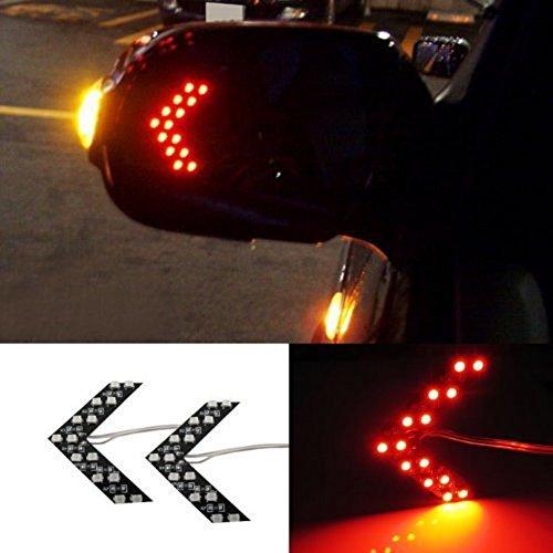 Preisvergleich Produktbild zyhw 2rot LED Arrow Flash Lights SMD Auto Seite versteckte Spiegel Blinker Indikatoren