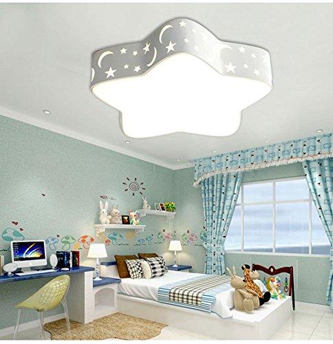 Deckenleuchte LED Deckenlampe 24W mit Star und Mond Design romantische Led Wandlicht Kinderlampe Kinderleuchte für Wohnzimmer Schlfzimmer Spielzimmer (weiß) (Prinzessin Material Für Raum)