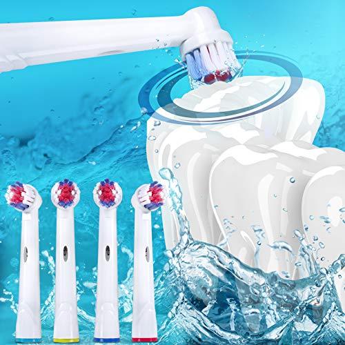 (Aufsteckbürsten Set | Sets zur Auswahl, Kompatibel mit Oral-B Elektrozahnbürsten | Elektrische Zahnbürsten, Ersatzbürsten, Bürstenköpfe (40er Set))