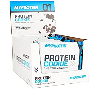 Myprotein Max Protein Cookie Box Double Chocolate Chip, 1er Pack 12 x 75 g