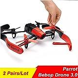 Generic Black : 4Pcs/Lot Parrot Bebop Drone 3.0 3-Blade Propeller Main Blades Rotors Props Yellow Black