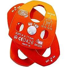 MINI TWIN-mini doble polea abierta alu, cojinet. bolas-naranja
