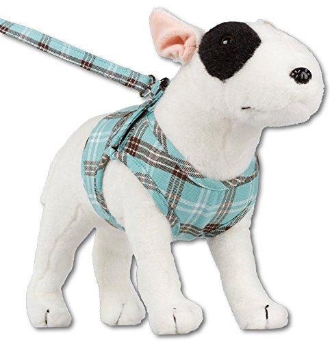 Komfortables Hundegeschirr Scottish Türkis XXS-M, Größe:XS - 2