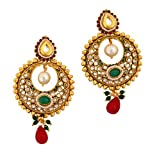 Gold & More Gold Plated Polki Earrings F...