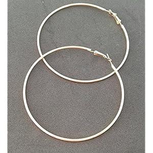 Selia Creolen Ohrring studs Ohrring Kreis minimal Gold groß Modeschmuck, handgemacht, schmuck, geschenk,
