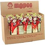 Mopec JWB885 - Expositor de 42 estuches con 3 chocolates y pinza de mariquitas, pack de 1 unidad