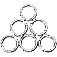 20x Edelstahl Rundkarabiner,Karabinerhaken Schnapphaken Schlüssel Outdoor O-Ring