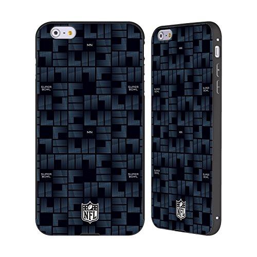 Ufficiale NFL Modelle 2 2018 Super Bowl LII Nero Cover Contorno con Bumper in Alluminio per Apple iPhone 5 / 5s / SE Modelle 3