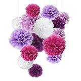 Pompón de papel de seda, flores de papel, perfecto para decoración de bodas, celebración de...