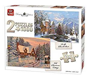 King Landscape Collection 2in1 Puzzle - Rompecabezas (Puzzle Rompecabezas, Paisaje, Adultos, Hombre/Mujer, 8 año(s), Cartón)