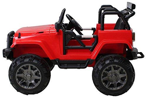 RC Auto kaufen Kinderauto Bild 2: Actionbikes Motors Kinder Elektroauto Offroad Jeep 2 x 35 Watt (Rot)*