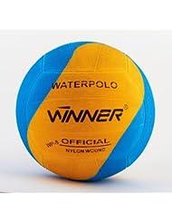 Winner–Balón de waterpolo. Blue-Yellow Swirl Diseño. Tamaño 5