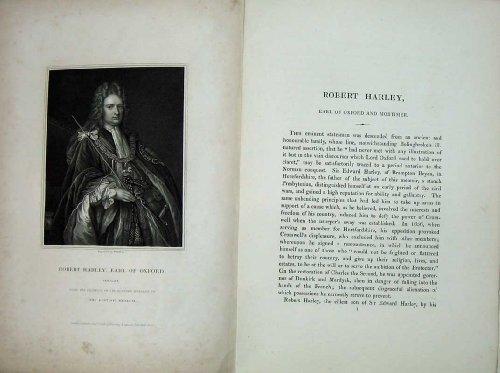 Stampa 1836 di Oxford del Conte di Robert Harley del Ritratto delle Memorie