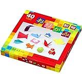 Papel Origami - Pack Descubrimiento - 4 tipos de papel origami - 40 colores surtidos - 252 hojas en total - 15cm x 15cm