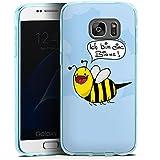 Samsung Galaxy S7 Silikon Hülle Case Schutzhülle DirtyWhitePaint Fanartikel Merchandise Ich bin eine Biene!