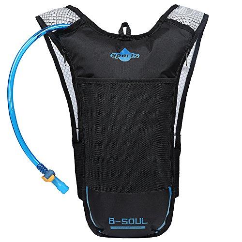 EGOGO Atmungsaktive Leichtgewicht Sport Laufen Camping Radfahren Wandern Rucksack Trinkrucksäcke mit 2L BPA Frei Trinkblase (Blau)