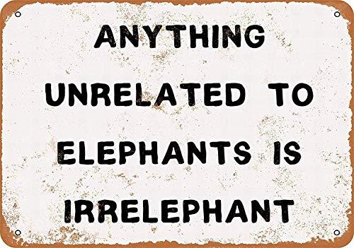 HiSign Cualquier Cosa no relacionada con los Elefantes Carteles de Chapa de...
