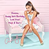 Ariana Grande 1 Personalised Gift Print Mouse Mat Autograph Computer Rest Mouse Mat Compatible with Laser and Optical Mice (No Personalised Message)