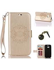 PU Coque One M8 / M8s, Multifonction Case Wallet Cover Etui en cuir Étui de protection flip Wallet stand Cover avec des fentes de cartes pour HTC One M8 / M8s +Bouchons de poussière (5SS)