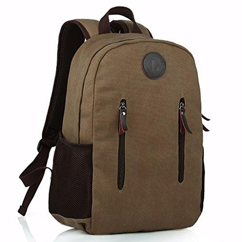 Rucksack Lässige Sporttasche Canvas Travel Rucksack Große Student Computer Tasche (Farbe : B)