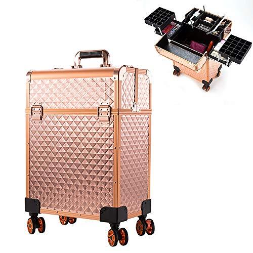 Trolley Make up Beauty Case Nail Art Valigia Cofanetto Porta gioie smalti oggetti