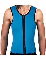 DODOING Herren Neopren Unterhemd Abnehmen Bauch Körper Fitnessgürtel Former Sauna Tank Top Weste Sweat Shirt Taille Training Cincher Shapewear für Gewichtsverlust