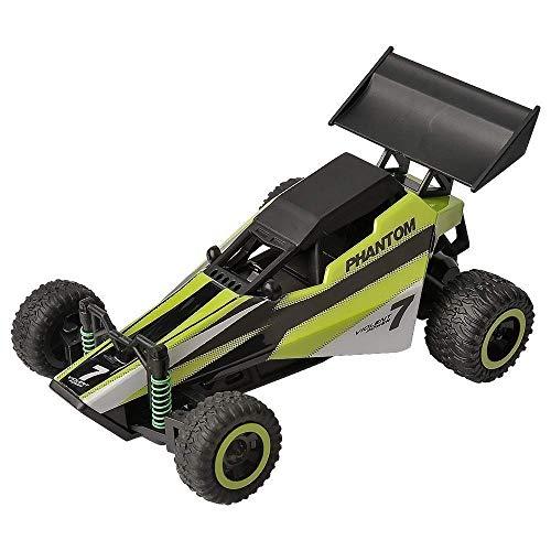 Wesxm Mini Fernbedienung Geländewagen 20 KM/STD Hochgeschwindigkeitsradiosteuerung Rennwagen Doppelmotor Hohe Leistung All Terrain Fernbedienung Auto Spielzeug Kinder Geschenk (Color : Grün)