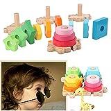 TianranRT Geometrisch Form passend Spielzeug Kinder ' pädagogisch Spielzeug aus Holz Pole Geometrie Form intelligent Spielzeug