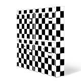 Burg-Wächter Briefkastenanlage, Design Motiv Postkasten, Stahlblech weiß, MAIL 5877 W 72x64x10cm mit Bild Karo Schwarz